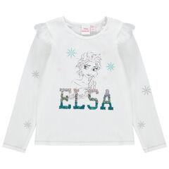 Μακρυμάνικη μπλούζα από ζέρσεϊ με στάμπα την Έλσα της Disney