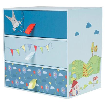 Κουτί με 6 κορμάκια από την γέννηση έως τους 12 μήνες με τσέπη και μοτίβο φαντεζί.