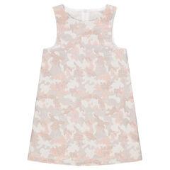 Αμάνικο φόρεμα με μεταλλιζέ ζακάρ μοτίβο παραλλαγής