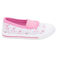 Χαμηλά υφασμάτινα παπούτσια σε στυλ μπαλαρίνας με λάστιχο, μεγέθη 24 έως 29