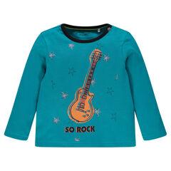 Μακρυμάνικο μπλουζάκι με αστέρια και κιθάρα
