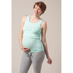 Αμάνικη μπλούζα πιτζάμας για την εγκυμοσύνη και το θηλασμό